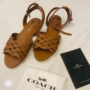 COACH Summers Semi Matte Calf Saddle Sandal size 7